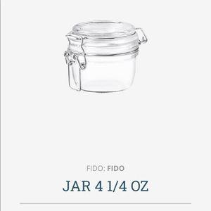 Bormioli Rocco PAIR storage jars. S/2,4 1/4oz each